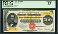 Large Size:Gold Certificates, Fr. 1217 $500 1922 Gold Certificate PCGS About New 53.. ...