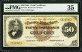 Large Size:Gold Certificates, Fr. 1192 $50 1882 Gold Certificate PMG Choice Very Fine 35.. ...