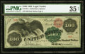 Large Size:Legal Tender Notes, Fr. 167a $100 1863 Legal Tender PMG Choice Very Fine 35 Net.. ...