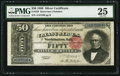 Large Size:Silver Certificates, Fr. 329 $50 1880 Silver Certificate PMG Very Fine 25.. ...