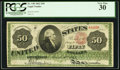 Large Size:Legal Tender Notes, Fr. 148 $50 1862 Legal Tender PCGS Very Fine 30.. ...