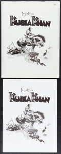 Movie Posters:Miscellaneous, Kubla Khan by Frank Frazetta (Frank Frazetta Prints, 1977). Signed and Numbered Limited Edition Art Portfolio with Prints (5... (Total: 6 Items)