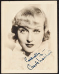 "Movie Posters:Miscellaneous, Carole Lombard (Paramount, 1930s). Autographed Photo (5.5"" X 7""). Miscellaneous.. ..."