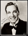 "Movie Posters:Miscellaneous, David Manners & Other Lot (1930s). Fine+. Autographed TrimmedPhoto (7.5"" X 9.75"") & Photo (10"" X 13""). Miscellaneous.. ...(Total: 2 Items)"