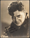 "Movie Posters:Sports, Richard Dix in Warming Up by Melbourne Spurr & Other Lot(Paramount, 1928). Fine+. Autographed Photos (2) (7.5"" X 9.75""& 7.... (Total: 2 Items)"