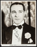 """Movie Posters, Ricardo Cortez (Warner Brothers, c.1930s). Autographed Photo (8"""" X 10"""").. ..."""