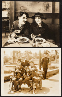 """The Immigrant & Other Lot (Mutual, 1917). Photos (2) (9.5"""" X 7.75"""", 8.25"""" X 10""""). Comedy. ... (T..."""