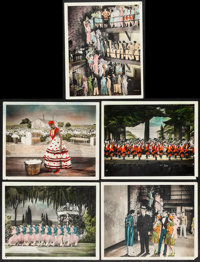 "On with the Show! (Warner Brothers, 1929). Color Glos Photos (5) (8"" X 10""). Musical. ... (Total: 5 Items)"