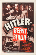 "Movie Posters:War, Hitler - Beast of Berlin (Producers Distributing Corp., 1939). OneSheet (27"" X 41""). War.. ..."