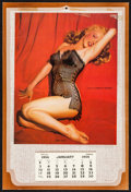 """Movie Posters:Miscellaneous, Marilyn Monroe by Tom Kelley (1954). Calendar (9"""" X 13.5"""") BlackTeddy Overlay. Miscellaneous.. ..."""