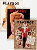 Magazines:Miscellaneous, Playboy Group of 65 (HMH Publishing, 1965-94). Condition: AverageVG/FN. ... (Total: 2 Items)