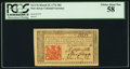 Colonial Notes:New Jersey, New Jersey March 25, 1776 18d PCGS Choice About New 58.. ...
