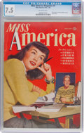 Golden Age (1938-1955):Non-Fiction, Miss America Magazine V1#4 (Miss America Publishing/Marvel/Atlas,1945) CGC VF- 7.5 Off-white pages....