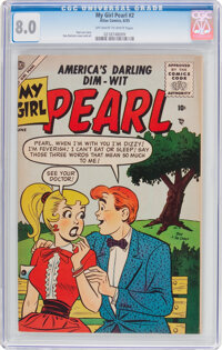 My Girl Pearl #2 (Atlas, 1955) CGC VF 8.0 Off-white to white pages