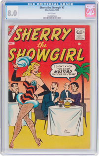 Sherry the Showgirl #3 (Atlas, 1956) CGC VF 8.0 White pages