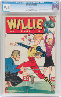 Willie Comics #5 Mile High Pedigree (Marvel, 1946) CGC NM+ 9.6 White pages