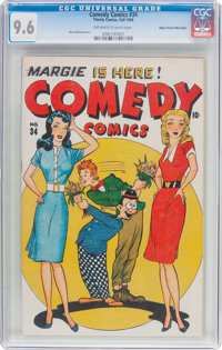 Comedy Comics #34 Mile High Pedigree (Timely, 1946) CGC NM+ 9.6 Off-white to white pages