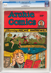 Archie Comics #nn (F. E. Howard Publishing, 1944) CGC GD+ 2.5 Off-white pages
