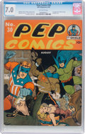 Golden Age (1938-1955):Superhero, Pep Comics #30 (MLJ, 1942) CGC FN/VF 7.0 Off-white pages....