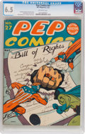 Golden Age (1938-1955):Superhero, Pep Comics #27 (MLJ, 1942) CGC FN+ 6.5 Off-white pages....