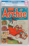Golden Age (1938-1955):Humor, Archie Comics #2 (Archie, 1943) CGC GD+ 2.5 Cream to off-white pages....