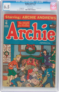 Archie Comics #6 (MLJ, 1944) CGC FN+ 6.5 Off-white pages