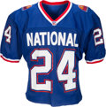 Football Collectibles:Uniforms, 1993 Deion Sanders Game Worn Signed Pro Bowl Jersey with Family Letter. . ...