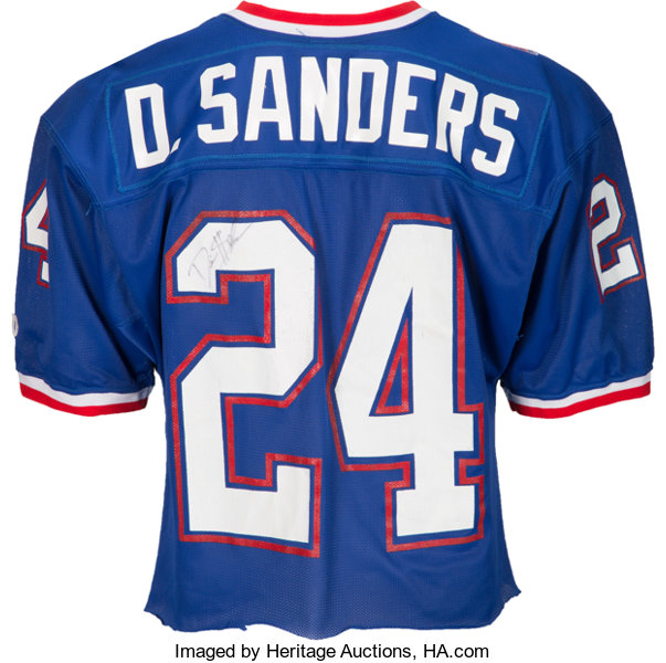 official photos 6812f f9097 1993 Deion Sanders Game Worn Signed Pro Bowl Jersey with ...
