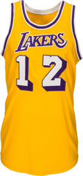 Basketball Collectibles:Uniforms, Early 1970's Pat Riley Game Worn Los Angeles Lakers Jersey....