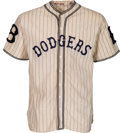 Baseball Collectibles:Uniforms, 1933 Joe Stripp Game Worn Brooklyn Dodgers Uniform - One-YearStyle!. ...
