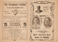 1903 World Series Game Eight Program--Boston Americans (Red Sox) Clinch Championship!