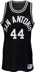 Basketball Collectibles:Uniforms, Circa 1984 George Gervin Game Worn San Antonio Spurs Jersey....