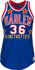 Basketball Collectibles:Uniforms, 1973-80 Meadowlark Lemon Game Worn Harlem Globetrotters Jersey. ....
