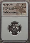 Ancients:Greek, Ancients: CALABRIA. Tarentum. Ca. 272-240 BC. AR stater or didrachm(6.40 gm). NGC XF 4/5 - 4/5....