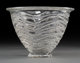 A Rene Lalique Clear Glass Annecy Vase, Wingen-sur-Moder, France, circa 1935 Stenciled R. LALIQUE, FRANCE ... (1)