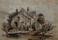 Paintings, American School (20th Century). Water Wheel. Oil on canvas. 15 x 22 inches (38.1 x 55.9 cm). ...