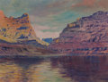 Fine Art - Painting, American, Elmer L. Boone (American, 1881-1952). Lake Mead, Arizona.Oil on canvasboard. 12 x 16 inches (30.5 x 40.6 cm). Signed lo...