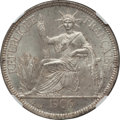 French Indochina, French Indochina: French Colony Piastre 1906-A MS63 NGC,...