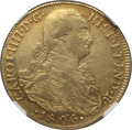 Colombia, Colombia: Charles IV gold 8 Escudos 1806 NR-JJ XF45 NGC,...