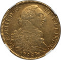 Colombia, Colombia: Charles III gold 8 Escudos 1786 P-SF AU55 NGC,...