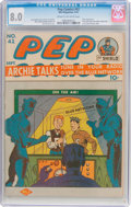 Golden Age (1938-1955):Humor, Pep Comics #42 (MLJ, 1943) CGC VF 8.0 Cream to off-white pages....