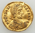 Ancients:Roman Imperial, Ancients: Honorius (AD 393-423). AV solidus (4.47 gm). Very Fine,smoothed, repaired. ...