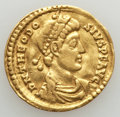 Ancients:Roman Imperial, Ancients: Theodosius I (AD 379-395). AV solidus (4.34 gm). VeryFine, smoothed, tooled....