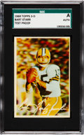 Football Cards:Singles (1960-1969), 1968 Topps 3-D Bart Starr Test Proof SGC Authentic.. ...