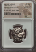 Ancients:Greek, Ancients: ATTICA. Athens. Ca. 440-404 BC. AR tetradrachm (17.20gm). NGC Choice AU 5/5 - 5/5. ...
