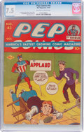 Golden Age (1938-1955):Humor, Pep Comics #43 (MLJ, 1943) CGC VF- 7.5 Off-white to white pages....