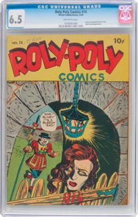 Roly Poly Comic Book #14 (Green Publishing Co., 1946) CGC FN+ 6.5 Off-white pages