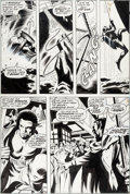 Original Comic Art:Panel Pages, Gene Colan and Jack Abel Tomb of Dracula #10 Story Page 11Blade Original Art (Marvel, 1973)....