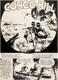 Original Comic Art:Panel Pages, Fred Ray Action Comics #48 Splash Page 1 Congo Bill OriginalArt (DC, 1942)....