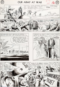 Joe Kubert Our Army At War #149 Story Page 10 Sgt. Rock Original Art (DC, 1964)